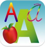大文字、小文字、筆記体、すべてが学べる幼児用英語アプリ