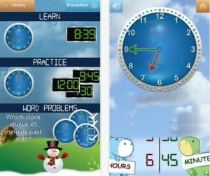 英語で時間の学習ができる時計アプリ(Tick Tock Clock)