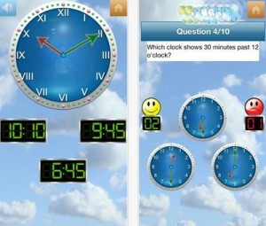 英語で時間の学習ができる時計アプリ