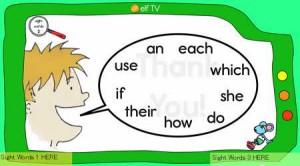 子供向けSight Words(重要単語)