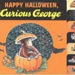 おさるのジョージの絵本「Happy Halloween Curious George」