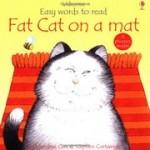 フォニックス絵本Fat cat on a mat