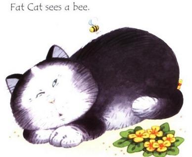 絵本Fat cat on a mat