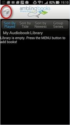 Ambling BookPlayer初期画面
