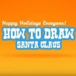 サンタクロースの描き方英語動画