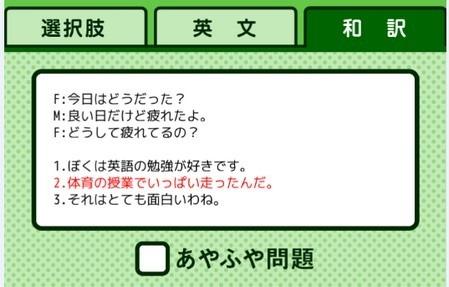 リスニング日本語訳