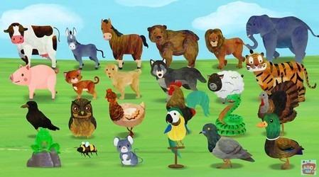 英語で動物たちの鳴き声の歌