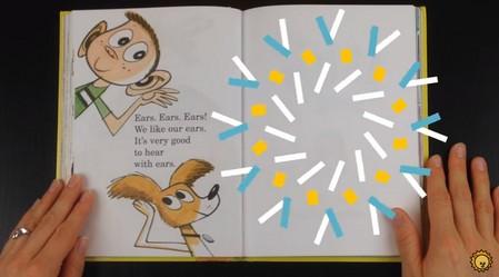 幼児向け英語絵本の読み聞かせ「The Ear Book」