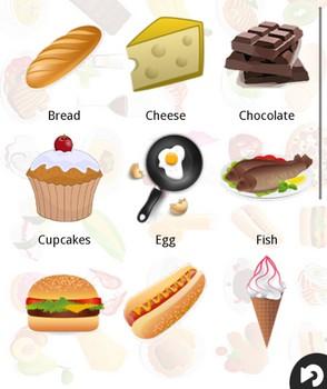 英語で食べ物