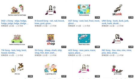 フォニックスを教室レベルで学習できるYouTubeチャンネル