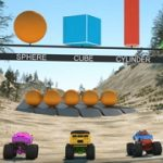 Learn Shapes And Race Monster Trucks