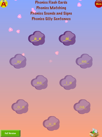 フォニックスアプリ『Phonics Silly Sentences 2』TOP
