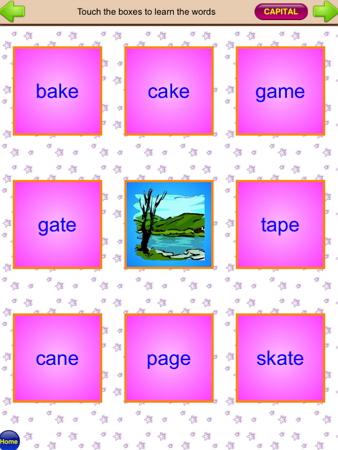 フォニックスアプリ『Phonics Silly Sentences 2』カード