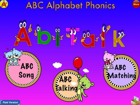 アルファベットフォニックスの英語アプリ