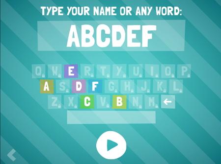 アルファベット入力