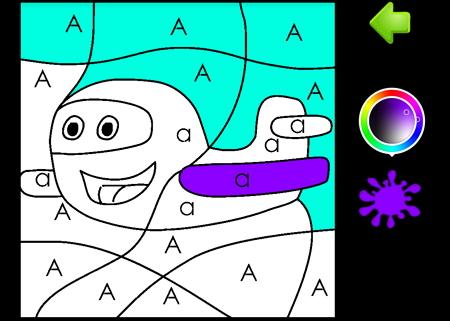 abc coloring塗り絵