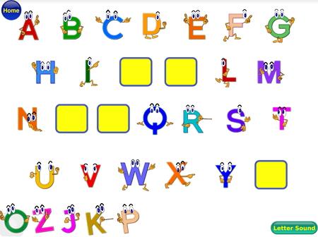 アルファベットの穴埋めゲーム