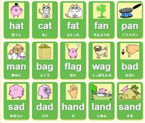 フォニックス発音単語カード