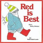 英語絵本「Red Is Best」