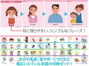 七田の幼児向けCD「Read with Me~4ページ絵本英語版」