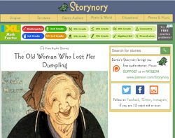 Storynory Free audio storues for kids