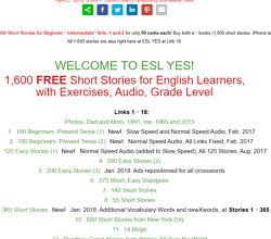 語学習者向けに1,600のショートストーリー
